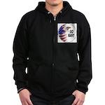 Go Navy Zip Hoodie (dark)