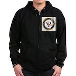 United States Navy Emblem Zip Hoodie (dark)