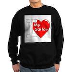 I Love My Sailor. Sweatshirt (dark)