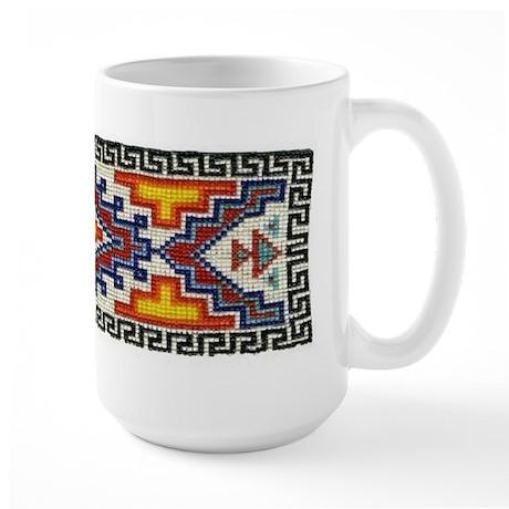 Beaded Tribal Band Large Mug