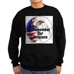 Remember Our Veterans Sweatshirt (dark)