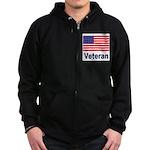 American Flag Veteran Zip Hoodie (dark)