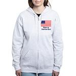 Navy Veteran Women's Zip Hoodie