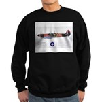 Supermarine Spitfire Aircraft Sweatshirt (dark)