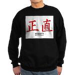 Samurai Honesty Kanji Sweatshirt (dark)