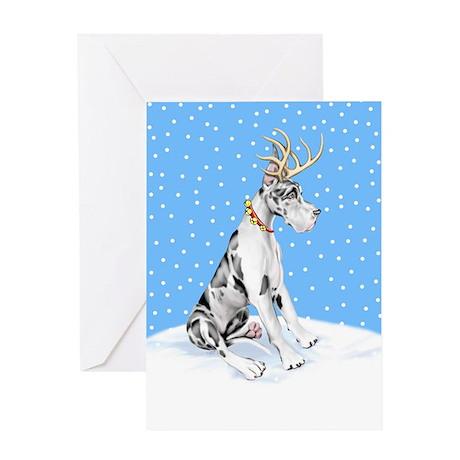 Great Dane Deer Harle Greeting Card