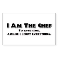 I am the Chef Rectangle Decal