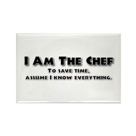 I am the Chef Rectangle Magnet (100 pack)