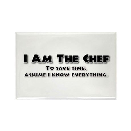 I am the Chef Rectangle Magnet