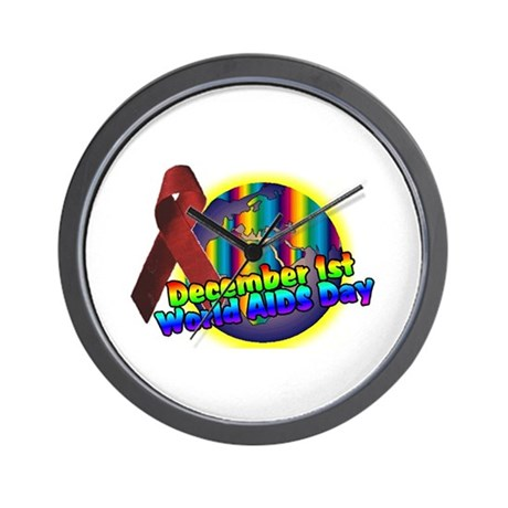world AIDS day 2 Wall Clock