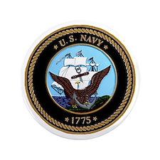 """US Navy Logo 3.5"""" Button"""
