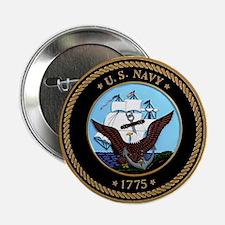 """US Navy Logo 2.25"""" Button"""