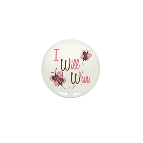 I Will Win 1 Butterfly 2 BreC Mini Button (10 pack