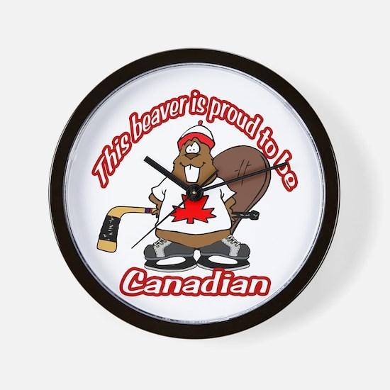 Canadian Beaver Wall Clock