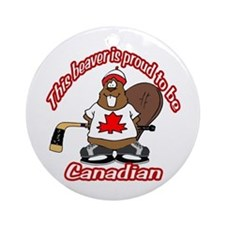 Canadian Beaver Ornament (Round)