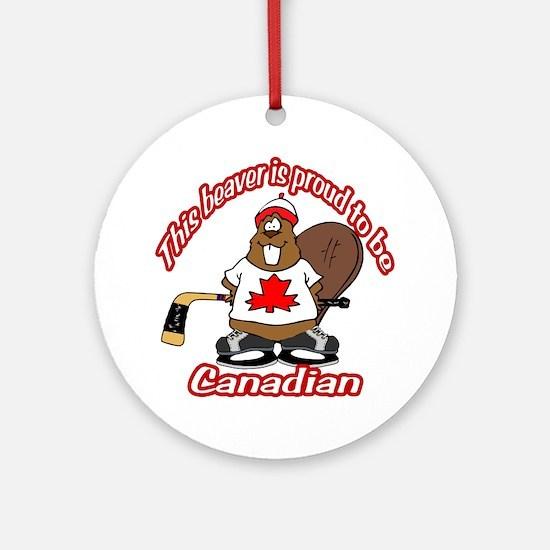 Canadian Beaver Ornament (Round)