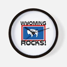 Wyoming Rocks! Wall Clock