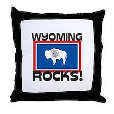 Wyoming Rocks! Throw Pillow