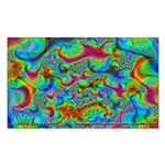 Fractal C~03 Rectangle Sticker (10 pack)
