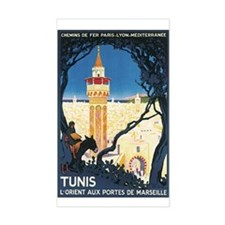Tunis Tunisia Rectangle Decal