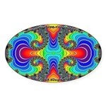 Fractal FR~16 Oval Sticker (10 pack)