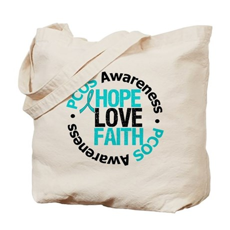 PCOS HopeLoveFaith Tote Bag