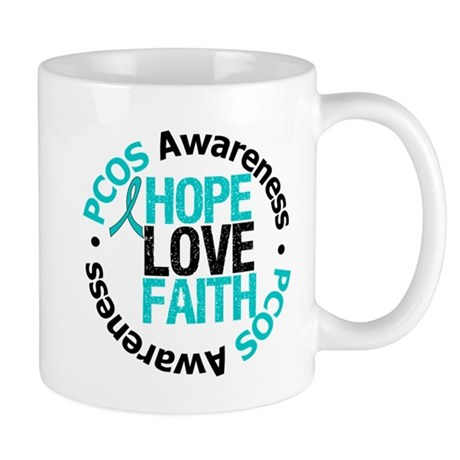 PCOS HopeLoveFaith Mug