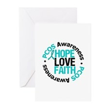 PCOS HopeLoveFaith Greeting Cards (Pk of 10)