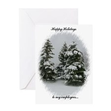 Happy Holidays to my Employees Greeting Card