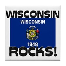 Wisconsin Rocks! Tile Coaster