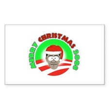 Obama Christmas design Rectangle Decal