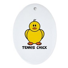 Tennis Chick Oval Ornament