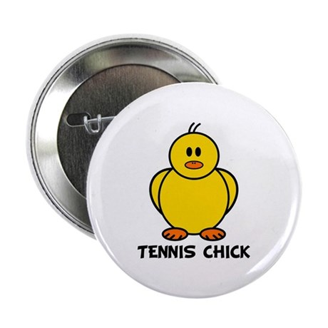 """Tennis Chick 2.25"""" Button (10 pack)"""