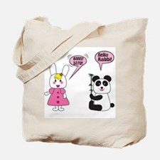 Panda Rabbi Engrish Tote Bag