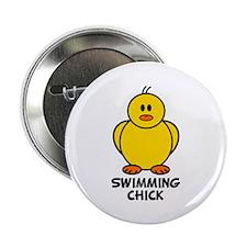 "Swimming Chick 2.25"" Button"