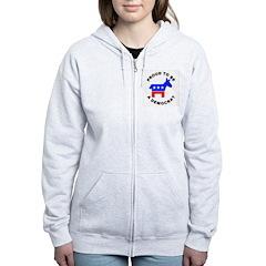 Proud Democrat Zip Hoodie