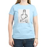 Fuck You, Middle Finger Women's Pink T-Shirt