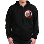 Anti-Barack Obama Zip Hoodie (dark)