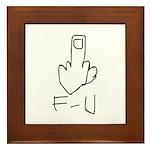 Fuck You, Middle Finger Framed Tile