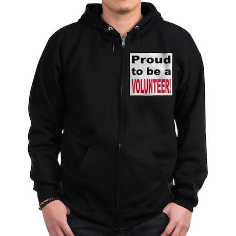 Proud Volunteer Zip Hoodie (dark)