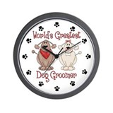 Dog groomer Wall Clocks