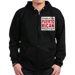 Proud Puerto Rican Heritage Zip Hoodie (dark)