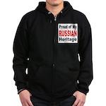 Proud Russian Heritage Zip Hoodie (dark)