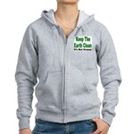 Keep the Earth Clean Women's Zip Hoodie