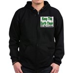 Keep the Earth Clean Zip Hoodie (dark)