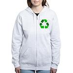 Recycle Environment Symbol Women's Zip Hoodie