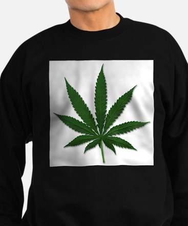 Marijuana Pot Leaf Sweatshirt (dark)