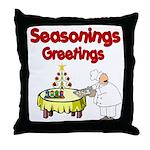 Seasonings Greetings Throw Pillow