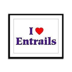 I Heart Entrails Framed Panel Print