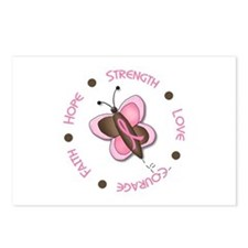 Hope Courage 1 Butterfly 2 PINK Postcards (Package